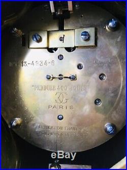 Tres rare et grande Pendule 400 jours Grivolas en Bronze Champleve