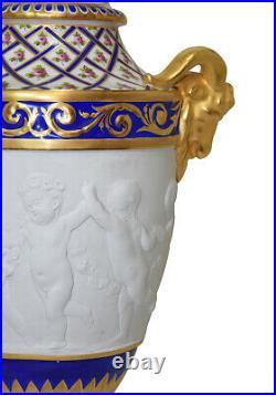 VASES PORCELAINE Kaminuhr Empire clock bronze horloge antique pendule sevres