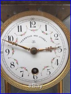 Vieille Pendule Ancienne 400 Jours C. G Claude GRIVOLAS