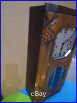 Vintage wall westminster clock uhr pendule horloge carillon ODO n° 36 art deco