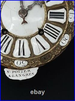 XVIII ème s, mouvement d'horloge comtoise